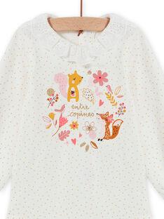 Body mangas compridas às bolas e padrões decorativos bebé menina MISAUBOD / 21WG09P1BOD001