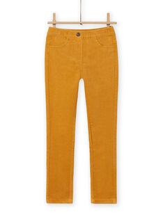 Calças em veludo canelado amarelo menina MAJOVEJEG2 / 21W901N2PANB107