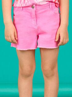 Calções acid wash rosa fluorescente menina LABONSHORT1 / 21S901W2SHOD311