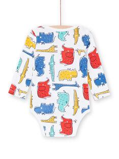 Body recém-nascido menino com mangas compridas animais da savana multicores LEGABODSAF / 21SH1429BDL001