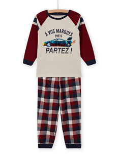 Conjunto de pijama com padrão de carro com lantejoulas reversíveis menino MEGOPYJSPOR / 21WH1232PYJ080
