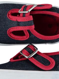 Sapatos salomé de tecido bebé menino FBGSALJEAN / 19SK38C1D17C218