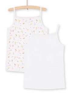 Lote de 2 camisolas de alças a condizer criança menina LEFADEJAU / 21SH11G1HLI000