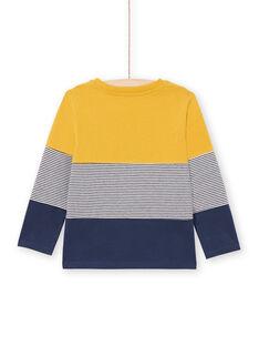 T-shirt amarela e azul-marinho menino MOJOTIDEC2 / 21W90221TML113