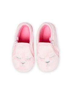 Sabrinas rosa claro em pelo sintético padrão gato bebé menina MIPANTFUR / 21XK3722D0A321