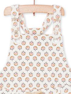 Jardineiras cru e rosa estampado florido bebé menina LIPOESAL / 21SG09Y1SAL001