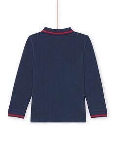 Polo mangas compridas liso azul-noite menino MOJOPOL1 / 21W90216POL705