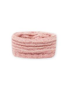 Snood de malha chenille rosa menina MYAROSNOO / 21WI0154SNOD332