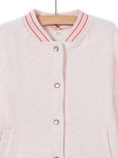 Casaco teddy de fato de treino rosa mesclado menina MAJOHAUJOG2 / 21W90112JGHD314
