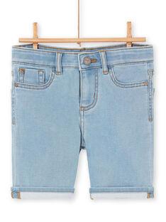 Bermudas de ganga azul-celeste criança menino LOBONBER4 / 21S902W4BERP272