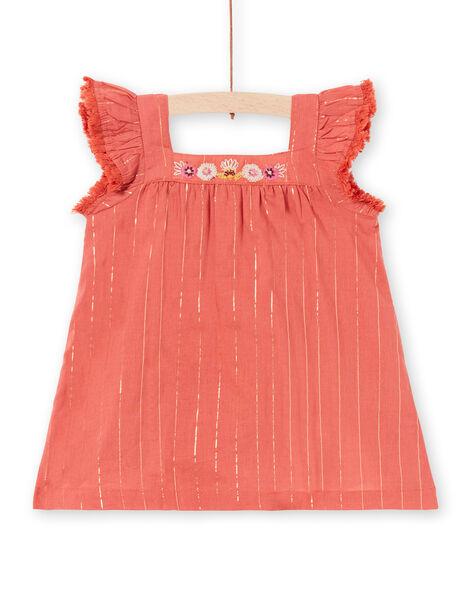 Vestido castanho bebé menina LITERROB1 / 21SG09V3ROBF519