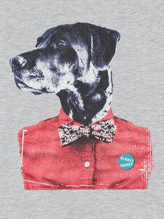 T-shirt cinzento mesclado - manga curta - Criança menino LOJOTI2 / 21S90233TMCJ922