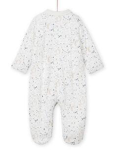 Babygro cru com gola estampado decorativo recém-nascido unissexo MOU1GRE3 / 21WF0441GRE001