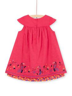 Vestido rosa com bordados tucanos LANAUROB3 / 21S901P3ROBF507