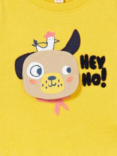 T-shirt amarela em algodão bebé menino LUNOTEE2 / 21SG10L2TML106