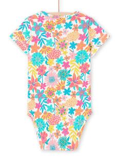 Body de mangas curtas estampado florido colorido bebé menina MEFIBODANI / 21WH13B6BDL001
