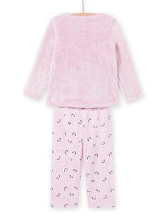 Conjunto de pijama rosa com padrão de panda em soft boa menina MEFAPYJKAN / 21WH1191PYJ326