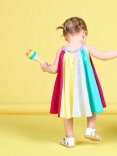 Vestido patchwork colorido bebé menina JIMARROB2 / 20SG09P2ROB000