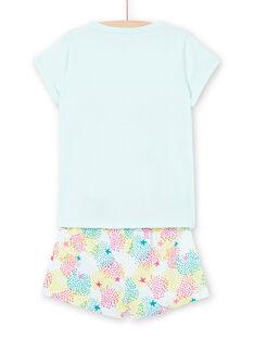 Pijama azul-celeste criança menina LEFAPYJERO / 21SH11C4PYJ219