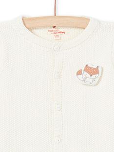 Casaco em malha cru com padrão raposa recém-nascido unissexo MOU1GIL2 / 21WF0541GIL001