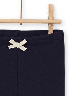 Leggings forrado azul-marinho com padrões coelhos bordados bebé menina MIJOPANDOU2 / 21WG0913PAN070
