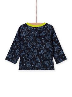 T-shirt reversível preto estampado espacial bebé menino MUPLATEE2 / 21WG10O1TMLC243