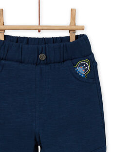 Calças azul-celeste com remendo extraterrestre bebé menino MUPLAPAN1 / 21WG10O1PANC204