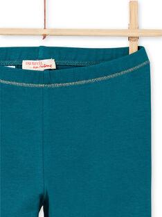 Leggings turquesas detalhes dourados menina MYAJOLEG4 / 21WI0114CAL714