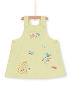 Vestido jardineiras amarelo bebé menina LIVERROB2 / 21SG09Q3ROB108