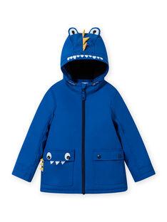 Impermeável azul com padrão de crocodilo menino MOGROIMP2 / 21W90252D59217