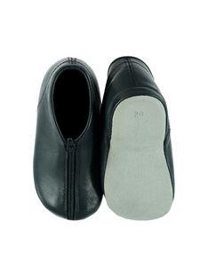 Pantufas botas couro azul-marinho bebé unissexo GBGBOBEBE / 19WK38B1D0A070