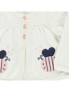 Baby girls' cotton knit cardigan CIDECAR2 / 18SG09F2CAR001