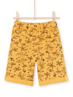Bermudas amarelo-mostarda menino LOTERBER2 / 21S902V3BERB101