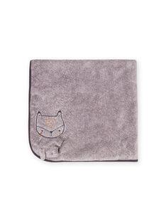 Cobertor cinzento mesclado padrão raposa recém-nascido unissexo MOU1COUV / 21WF4241D4PJ922