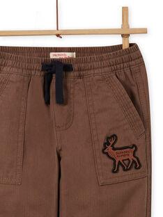 Calças com vários bolsos e estampado militar menino MOSAUPAN / 21W902P1PANI807