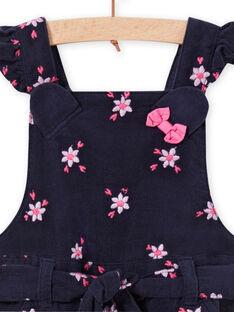 Jardineiras-calção com estampado florido em veludo canelado bebé menina MIPLASAC / 21WG09O1SALC202