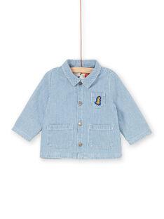 Casaco de ganga azul às riscas bebé menino LUGROVEST / 21SG10R1VESP272