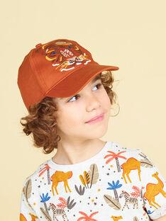 Boné laranja padrão leão criança menino LYOTERCAP / 21SI02V1CHAF519