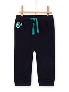 Calças de fato de treino azul-noite bebé menino MUTUPAN2 / 21WG10K2PANC234