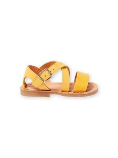Sandálias amarelas bebé menina LBFSANDSUN / 21KK3758D0E010