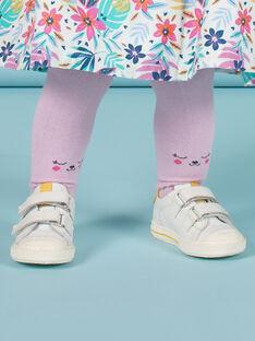 Collants lisos lavanda com padrões de ursinhos bebé menina MYIPLACOL / 21WI09O1COL326