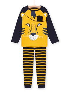 Conjunto pijama padrão de tigre com detalhes fosforescentes menino MEGOPYJLION / 21WH1281PYJB107