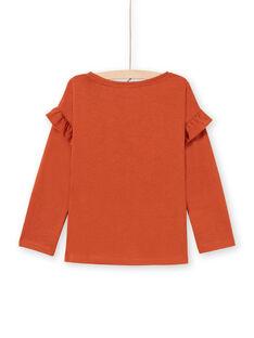 T-shirt caramelo menina MACOMTEE3 / 21W901L2TML420