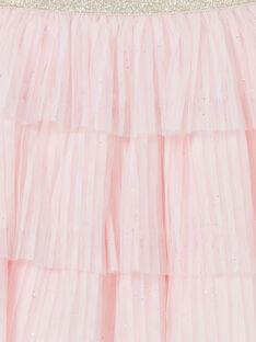 Saia rosa e dourada de tula plissada LAJAUJUP1 / 21S901O2JUP307
