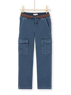 Calças azuis com bolsos menino MOJOPAMAT3 / 21W90221PANC202