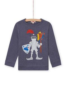 T-shirt cinzento padrão cavaleiro menino MOPLATEE4 / 21W902O3TMLJ902