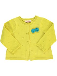 Girls' knitted cardigan CIJOGIL6A / 18SG09R7CAR106