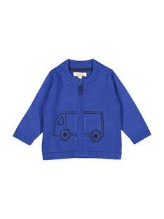 Casaco com zip azul em malha bebé menino FUJOGIL3 / 19SG1033GIL703