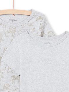 Pack de 2 t-shirts de mangas curtas à condizer cinzento claro menino MEGOTELSAV / 21WH12B1HLIA010