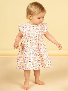 Vestido florido bebé menina LIPOEROB2 / 21SG09Y3ROB001